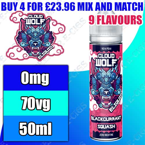 Cloud Wolf E Liquids 50ml