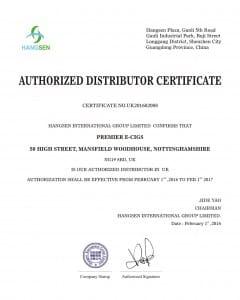 Hangsen Certificate 2016