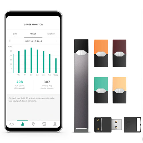 Black JUUL C1 New JUUL Tracker