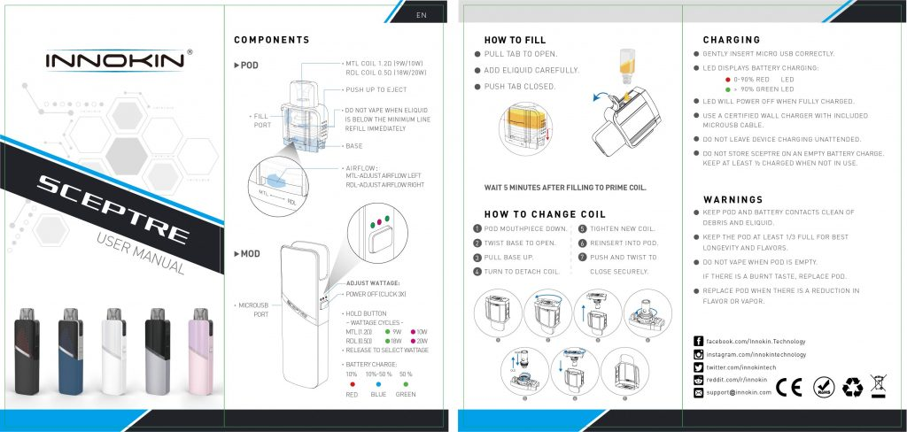Innokin Sceptre Kit Instruction Manual