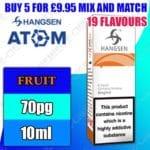 Hangsen Fruit flavours